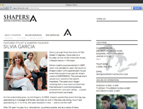 Shapers Salon Website